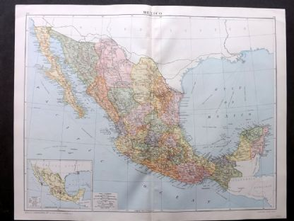 Gross 1920 Large Map. Mexico